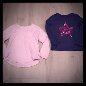 Two Cat & Jack Long-Sleeved Shirts Size 5T